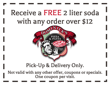 Dominick's Pizza delivery Coupon Villa Park IL